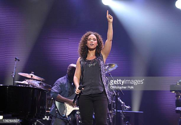 Singer Alicia Keys performs onstage at the iHeartRadio Music Festival held at the MGM Grand Garden Arena on September 23 2011 in Las Vegas Nevada