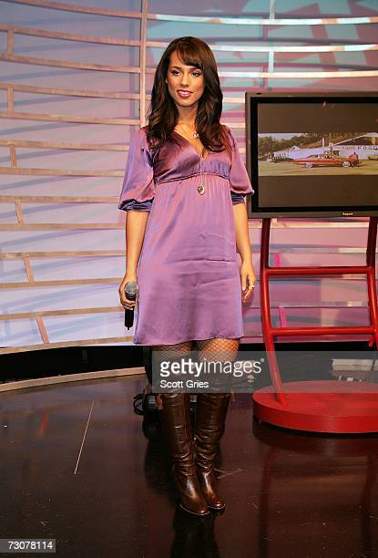 Singer Alicia Keys poses during an appearance on BET's 106 Park January 22 2007 in New York City