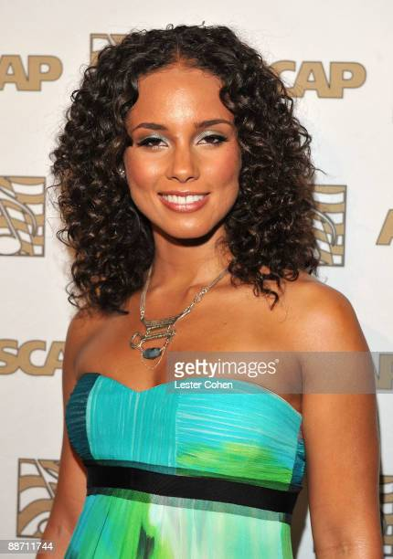 Singer Alicia Keys poses in the press room during the 22nd annual ASCAP Rhythm and Soul Awards held at The Beverly Hilton Hotel on June 26 2009 in...
