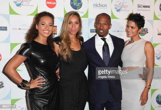 Singer Alicia Keys singer Leona Lewis actor Jamie Foxx and actress Halle Berry arrive to Jenesse Center's 30th Anniversary Silver Rose Weekend at the...
