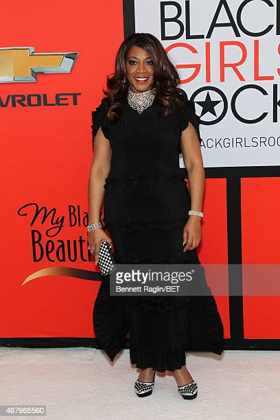 Singer Alicia Myers attends the BET's Black Girls Rock Red Carpet sponsored by Chevrolet at NJPAC – Prudential Hall on March 28 2015 in Newark New...