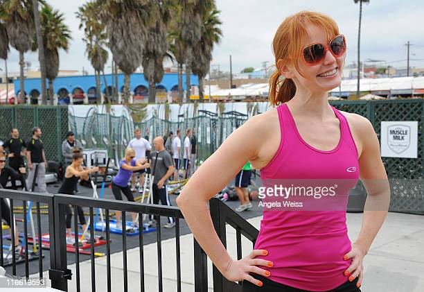 Singer Alicia Witt attends the Muscle Milk Fitness Retreat on June 16 2011 in Venice Beach California