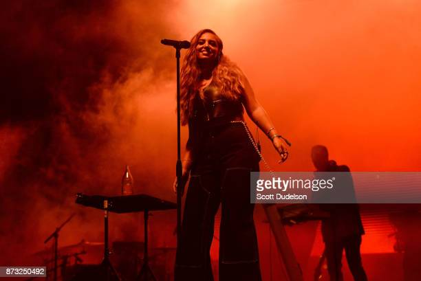Singer Alina Baraz performs onstage during the Tropicalia Music and Taco Festival at Queen Mary Events Park on November 11 2017 in Long Beach...