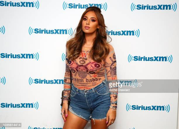 Singer Alina Baraz visits the SiriusXM studios on September 18 2018 in New York City