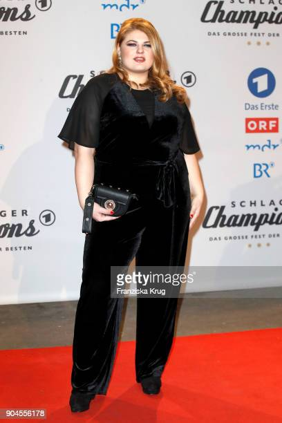 Singer Alina during the 'Schlagerchampions Das grosse Fest der Besten' TV Show at Velodrom on January 13 2018 in Berlin Germany