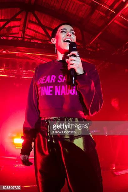 Singer Alina Sueggeler of the German band Frida Gold performs live during a concert at the Postbahnhof on December 7 2016 in Berlin Germany
