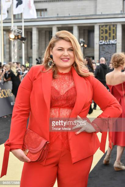 Singer Alina Wichmann alias Alina arrives at the Echo Award 2018 at Messe Berlin on April 12 2018 in Berlin Germany