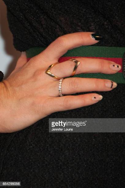 """Singer Alisan Porter, ring detail, attends the American Red Cross Centennial Celebration to Honor Disney as the """"Humanitarian Company of The Year"""" at..."""