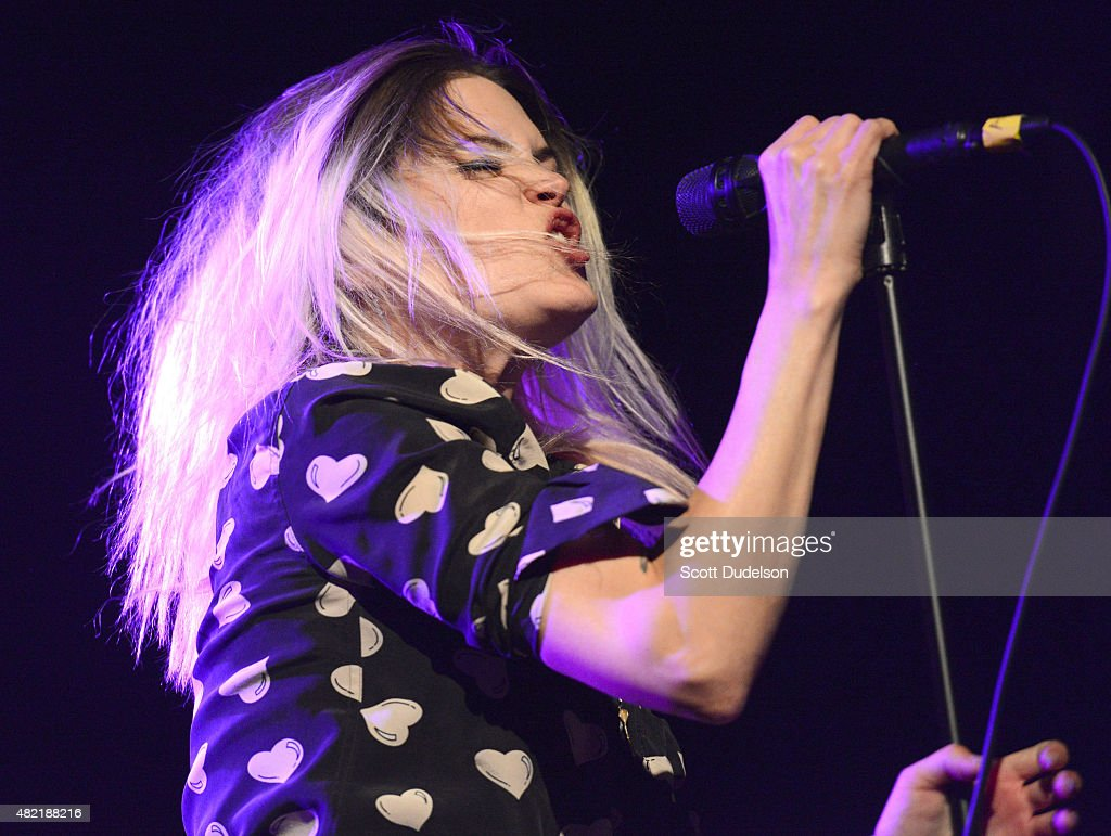 Alison Rey singer alison mosshart of the kills performs onstage at el