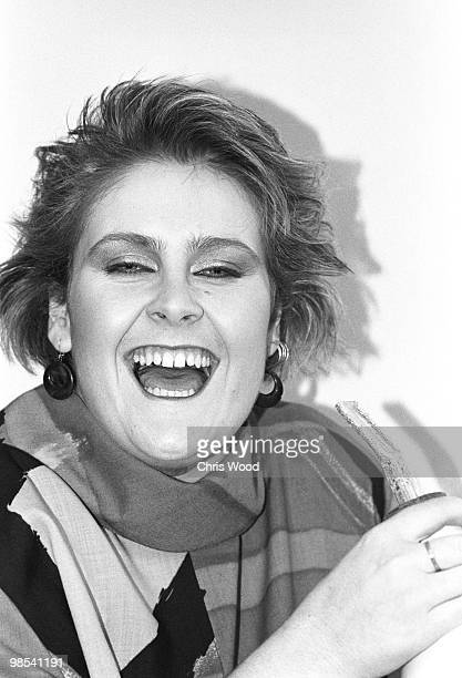 Singer Alison Moyet laughing 23rd November 1984 Formerly the singer with 'Yazoo' Moyet went on to record as a solo artist