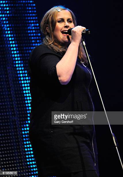Singer Alison Moyet of the pop band Yaz performs live on stage at Terminal 5 on July 16 2008 in New York City