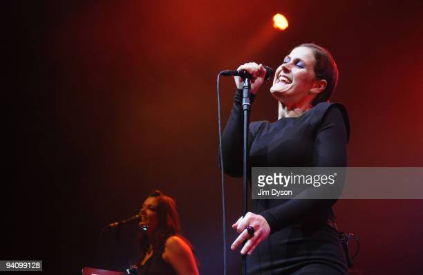 Singer Alison Moyet performs live at the Royal Festival Hall during her 25 Years Revisited tour on December 6 2009 in London England