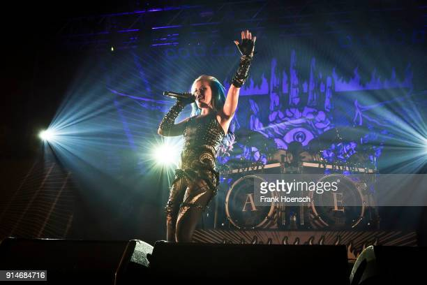 Singer Alissa WhiteGluz of the Swedish band Arch Enemy performs live on stage during a concert at the Huxleys on February 5 2018 in Berlin Germany