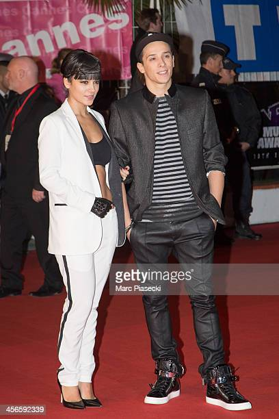 Singer Alizee and boyfriend Gregoire Lyonnet attend the 15th NRJ Music Awards at Palais des Festivals on December 14 2013 in Cannes France