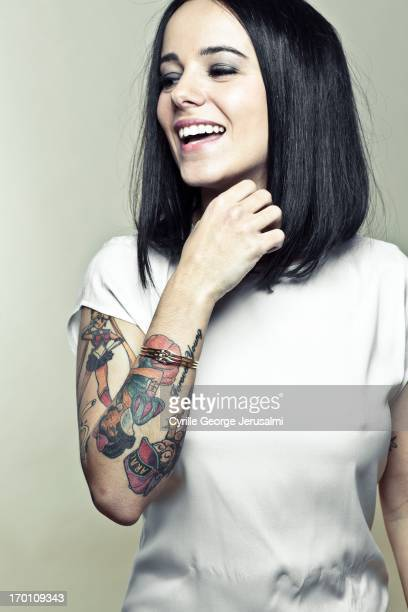 Singer Alizee is photographed for Self Assignment on March 1 2013 in Paris France