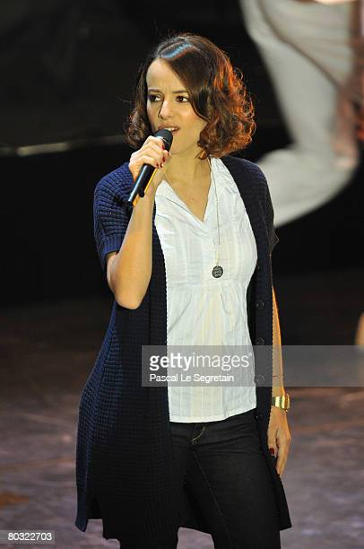 Singer Alizee performs on stage during the Fight Aids Monaco Gala on March 20 2008 in Monaco