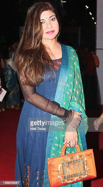 Singer Alka Yagnik arrives at the Police show Umang 2012 held in Mumbai
