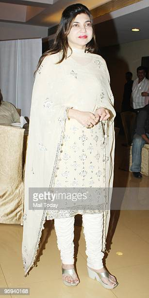 Singer Alka Yagnik at the audio release of the album Vande Mataram in Mumbai on January 21 2010