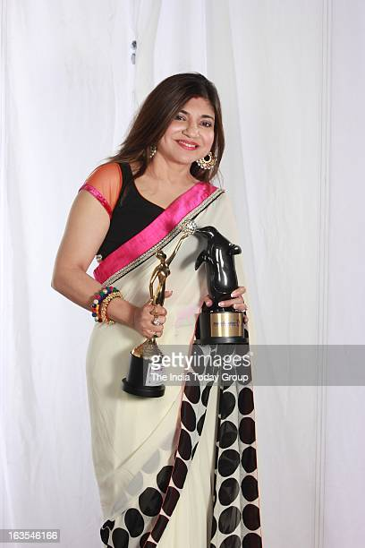 Singer Alka Yagnik at the Gr8 Women's Achievers Awards 2013 at Hotel Lalit in Mumbai