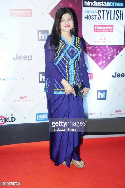 Singer Alka Yagnik during Hindustan Times India's Most Stylish Awards 2018 at Yash Raj Studios Andheri on January 24 2018 in Mumbai India