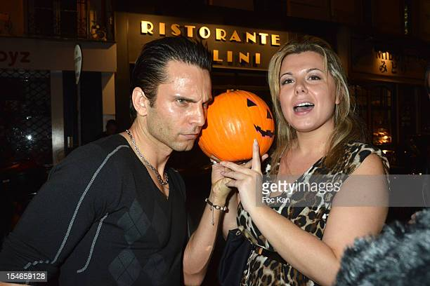 Singer Allan Theo and Cindy Lopes attends the 'Les 10 Ans de Marc Mitonne' Party Hosted by '2 Mains Rouges' at the Marc Mitonne Restaurant on October...