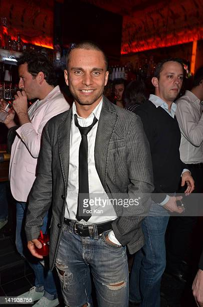 Singer Allan Theo attends 'Deux Mains Rouges Contre le Sida' Auction Party Against Aids at Balajo on March 26 2012 in Paris France