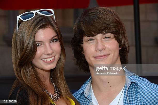 Singer Allegra Miller and actor Evan Hofer attend Variety's Power of Youth Event presented by Cartoon Network at Paramount Studios on September 15...