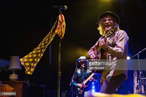 Singer Allen Stone performs on day 3 of the Bumbershoot Music Festival at Seattle Center on September 2 2013 in Seattle Washington
