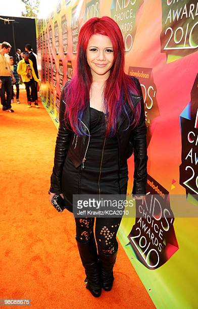 Singer Allison Iraheta arrives at Nickelodeon's 23rd Annual Kids' Choice Awards held at UCLA's Pauley Pavilion on March 27 2010 in Los Angeles...