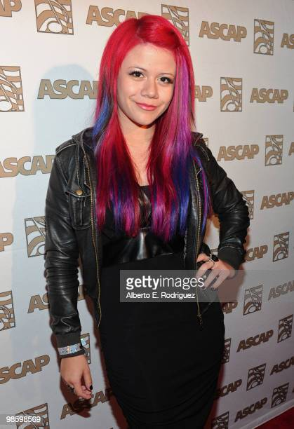 Singer Allison Iraheta arrives at the 27th Annual ASCAP Pop Music Awards held at the Renaissance Hollywood Hotel on April 21 2010 in Hollywood...