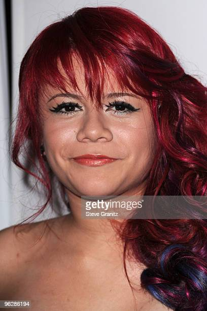 Singer Allison Iraheta arrives at the 52nd Annual GRAMMY Awards Salute To Icons Honoring Doug Morris held at The Beverly Hilton Hotel on January 30...