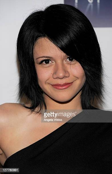 Singer Allison Iraheta arrives at the NARM Convention awards dinner celebrating American Idol Nicki Minaj Brian Wilson and more at the Hyatt Regency...
