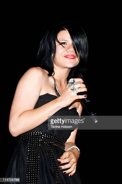 Singer Allison Iraheta performs at the KIIS FM's 10th Annual 'American Idol' Finale Viewing Party at Regal 14 LA Live Downtown on May 25 2011 in Los...