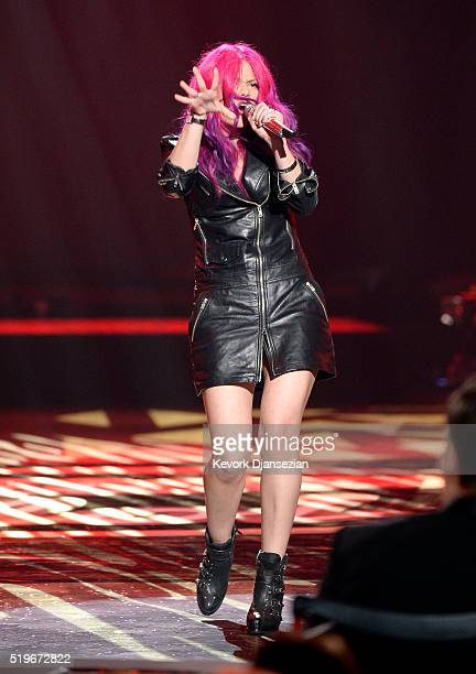 Singer Allison Iraheta performs onstage during FOX's 'American Idol' Finale For The Farewell Season at Dolby Theatre on April 7 2016 in Hollywood...