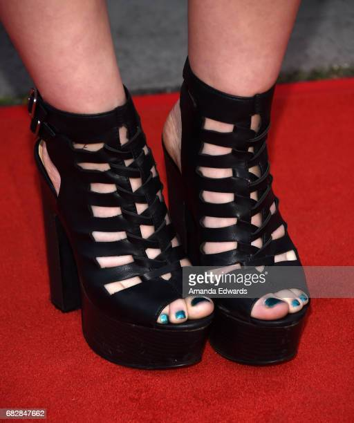 Singer Allison Iraheta shoe detail arrives at the Los Angeles LGBT Center's An Evening With Women event at the Hollywood Palladium on May 13 2017 in...