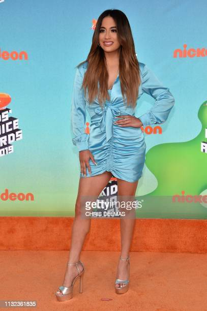 Singer Ally Brooke arrives for the 32nd Annual Nickelodeon Kids' Choice Awards at the USC Galen Center on March 23 2019 in Los Angeles
