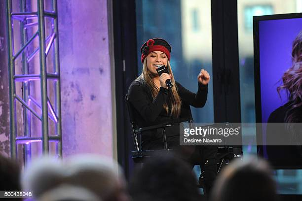 Singer Ally Brooke attends AOL Build Presents Fifth Harmony Member Ally Brooke at AOL Studios In New York on December 8 2015 in New York City