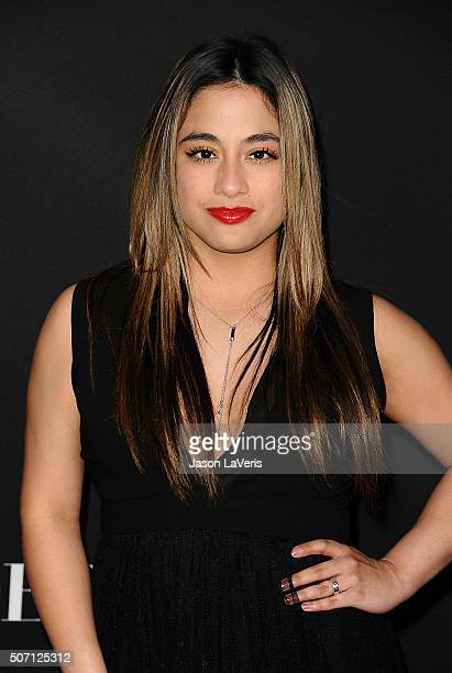 Singer Ally Brooke attends the premiere of Fifty Shades of Black at Regal Cinemas LA Live on January 26 2016 in Los Angeles California
