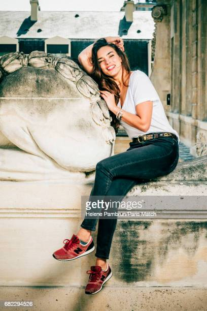 Singer Alma aka Alexandra Maquet is photographed for Paris Match on April 21 2017 in Paris France