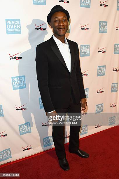 Singer Aloe Blacc attends The 44th Annual Peace Over Violence Humanitarian Awards at Dorothy Chandler Pavilion on October 16 2015 in Los Angeles...