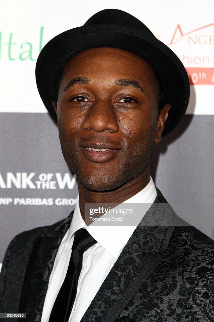 Singer Aloe Blacc attends the Los Angeles Italia Opening Gala held at the TCL Chinese 6 Theatres on February 15, 2015 in Hollywood, California.
