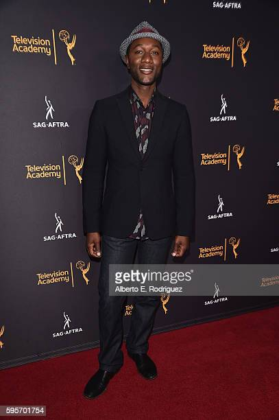 Singer Aloe Blacc attends the Television Academy And SAGAFTRA's 4th Annual Dynamic and Diverse Celebration at The Saban Media Center on August 25...