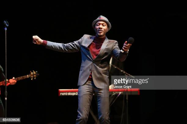 Singer Aloe Blacc performs during the annual GRAMMY In The Schools Live – A Celebration of Music Education presented by Ford Motor Company Fund...