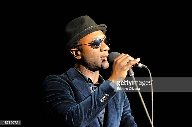 Singer Aloe Blacc performs during the exclusive 'For the Love of Cinema' event hosted by Swiss watch manufacturer IWC Schaffhausen in the role as new...