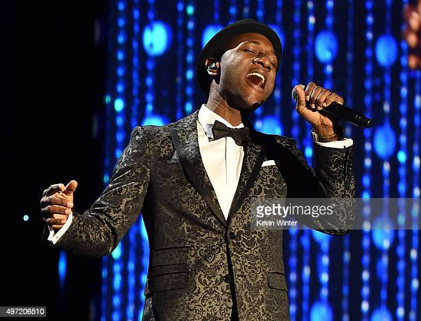 Singer Aloe Blacc performs onstage during the Academy of Motion Picture Arts and Sciences' 7th annual Governors Awards at The Ray Dolby Ballroom at...