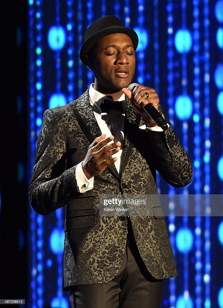 Singer Aloe Blacc performs onstage during the Academy of Motion Picture Arts and Sciences' 7th annual Governors Awards at The Ray Dolby Ballroom at Hollywood & Highland Center on November 14, 2015 in Hollywood, California.