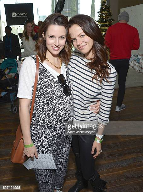 Singer Alona Tal and actress Tammin Sursok attend 6th Annual Santa's Secret Workshop benefitting LA Family Housing at Andaz on December 3 2016 in...