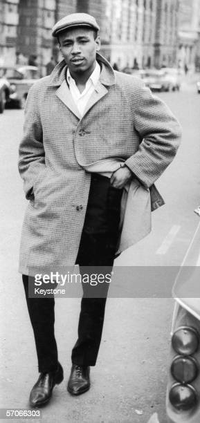 Singer Aloysius 'Lucky' Gordon arrives at the Old Bailey in London on the second day of his trial 6th June 1963 on charges of assaulting his former...