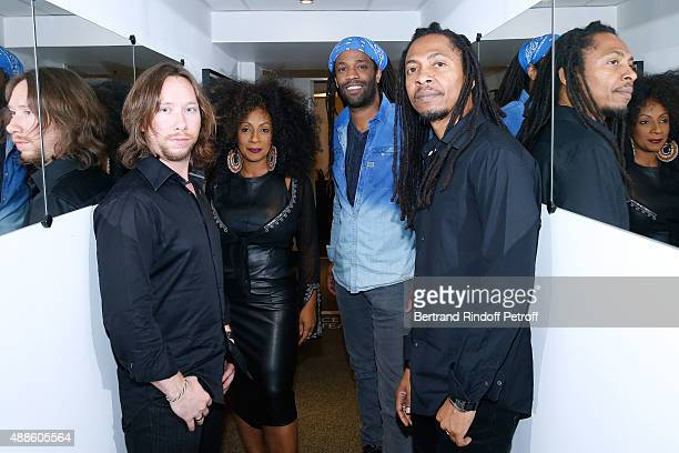 Singer Alpha Blondy and his Group attend the 'Vivement Dimanche' French TV Show at Pavillon Gabriel on September 16 2015 in Paris France