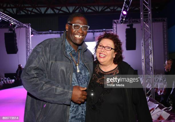 Singer Alphonso Williams and his wife Manuela Williams during the Plus Size Fashion Show at Cruise Center Hafencity on September 29 2017 in Hamburg...